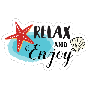 Relax and Enjoy Summer Time Sticker