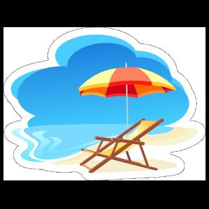 Relax on The Beach Sticker