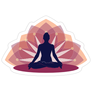 Relaxing Yoga Lotus Sticker