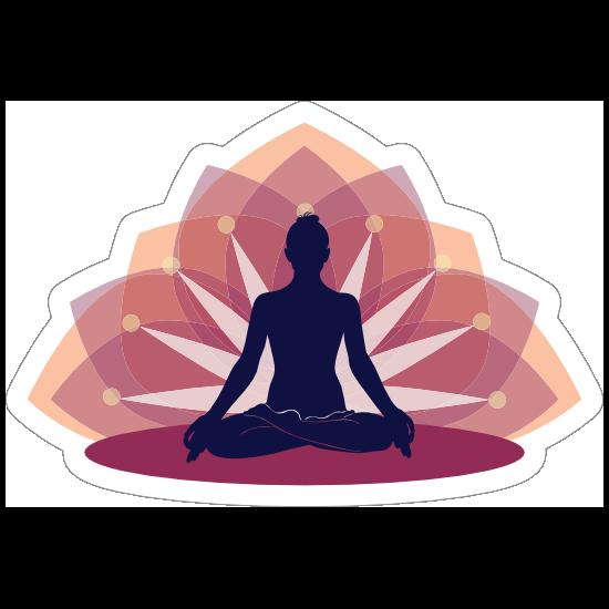 Relaxing Yoga Lotus Sticker