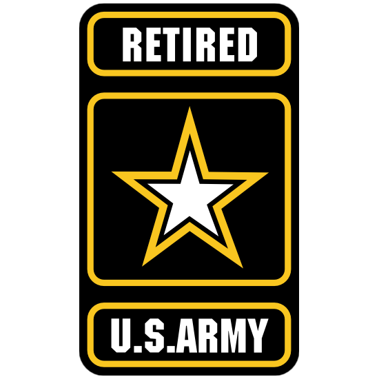 Retired U.S. Army Logo Sticker