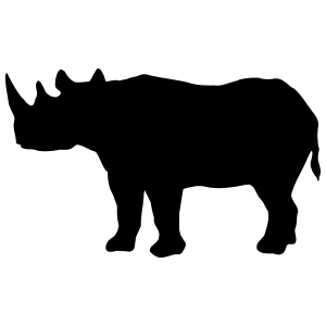 Rhinoceros Body Sticker