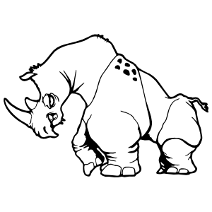 Clothed Rhinoceros Sticker