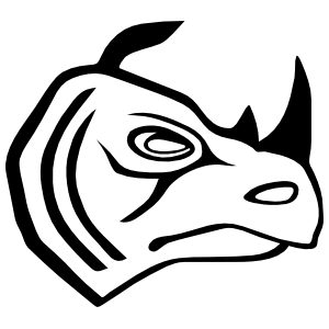 Rhinoceros Head Sticker