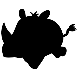 Baby Rhinoceros Sticker
