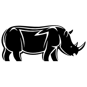 Detailed Rhinoceros Sticker