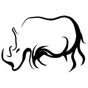 Rhinoceros Outline Sticker