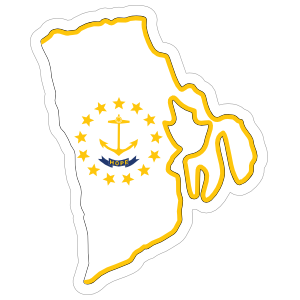 Rhode Island Flag State Sticker