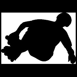 Stunt Rollerblader Sticker