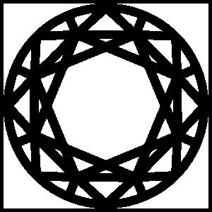 Top Of Round Diamond Sticker