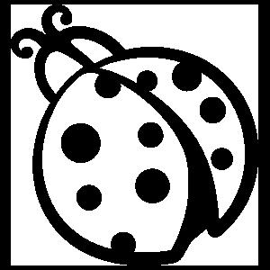 Round Ladybug Sticker
