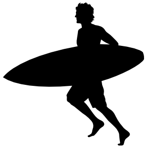 Running Surfing Sticker