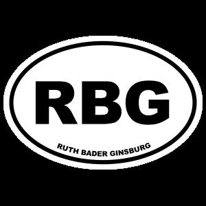 Ruth Bader Ginsburg RBG Oval Sticker