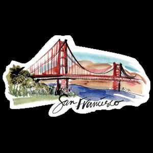 San Francisco Painted Skyline Sticker