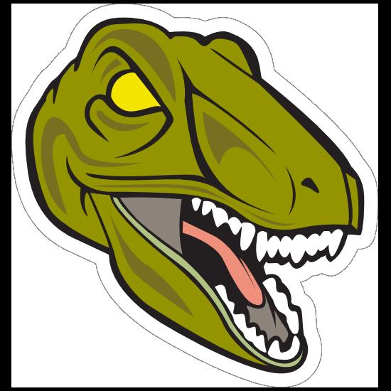 Scary Raptor Mascot Sticker