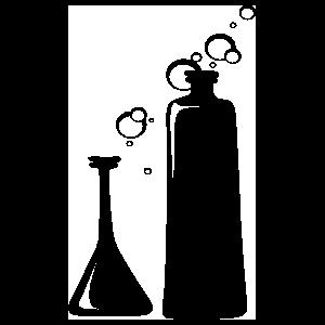 Science Beakers Sticker