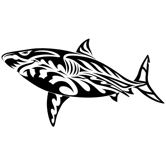 Tribal Shark Sticker