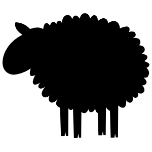 Furry Sheep Lamb Sticker