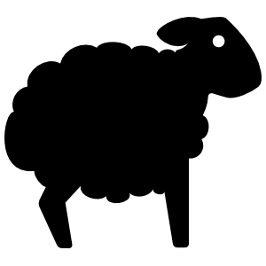 Sheep Lamb Silhouette Sticker