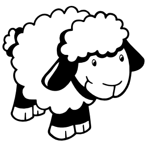 Sweet Sheep Lamb Sticker