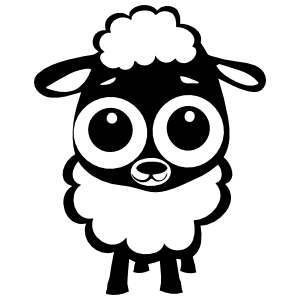 Adorable Baby Lamb Sheep Sticker