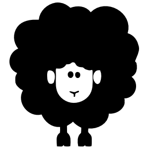 Fluffy Sheep Lamb Sticker