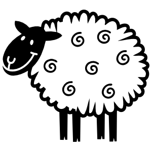 Cute Sheep Lamb Smiling Sticker