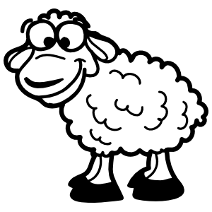 Goofy Sheep Lamb Sticker