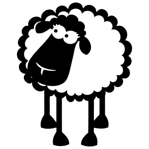Petite Sheep Lamb Sticker