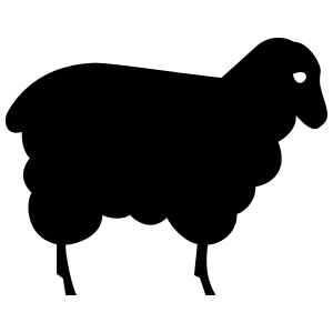 Sad Sheep Lamb Sticker
