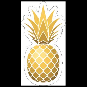 Shiny Golden Pineapple Sticker