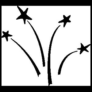 Four Shooting Stars Sticker