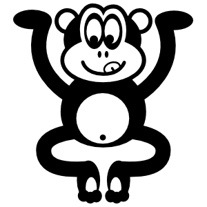 Silly Funky Monkey Sticker