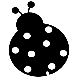 Simple Ladybug With Eight Dots Sticker