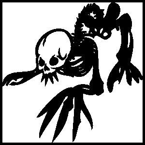 Skeleton Crawling Sticker
