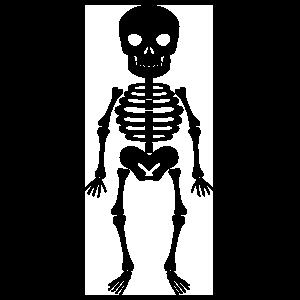 Short Skeleton Sticker
