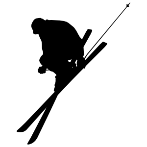 Skilled Skier Sticker