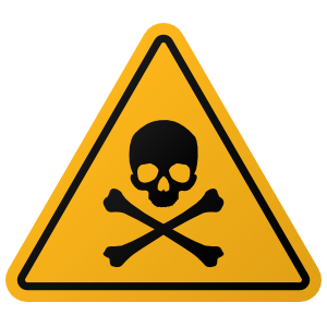 Skull And Crossbones Warning Sign Sticker