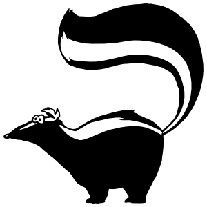 Skunk With Tail Raised Sticker