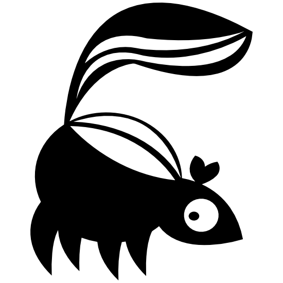 Cartoon Skunk Sticker