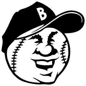Smiling Baseball Softball With A Hat Sticker