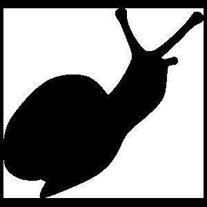 Snail Silhouette Sticker
