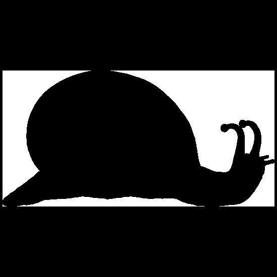 Basic Snail Silhouette Sticker