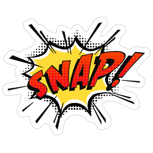 Snap Comic Sticker