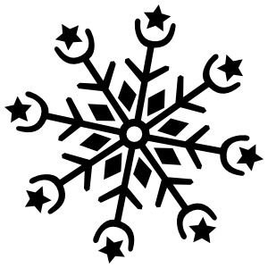 Snowflake with Stars Sticker