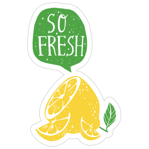 So Fresh Lemon Sticker