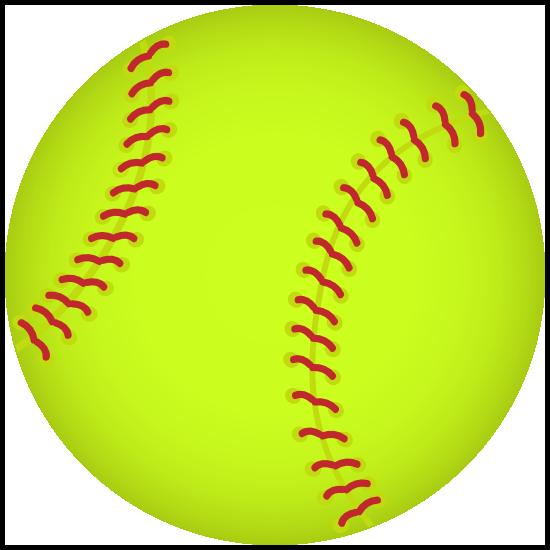 Softball Full Color Magnet