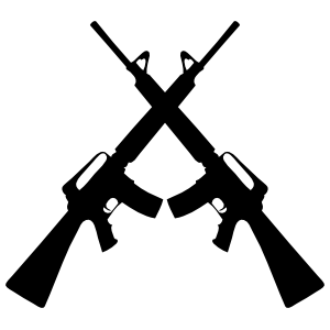 Soldier Rifles Guns Crossed Sticker