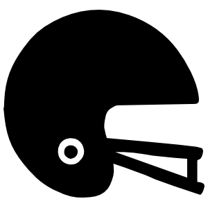 Solid Football Helmet Sticker