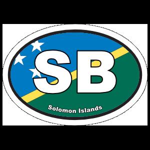Solomon Islands Flag Oval Sticker